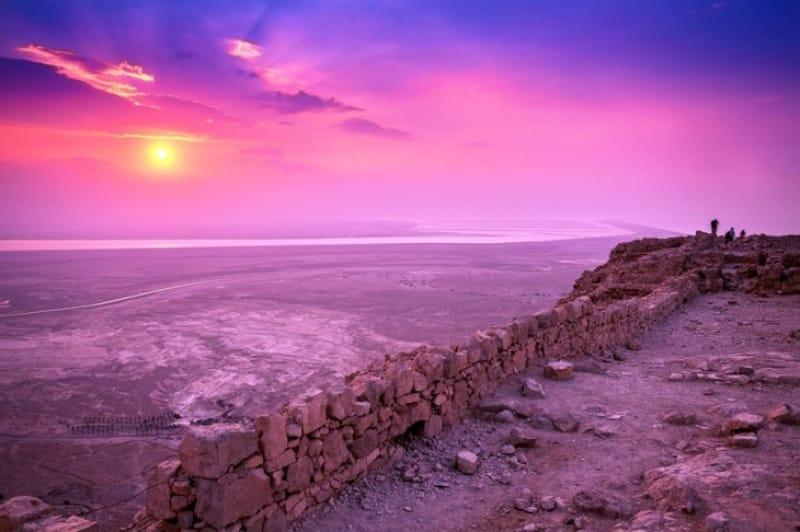 要塞跡から眺める夕日