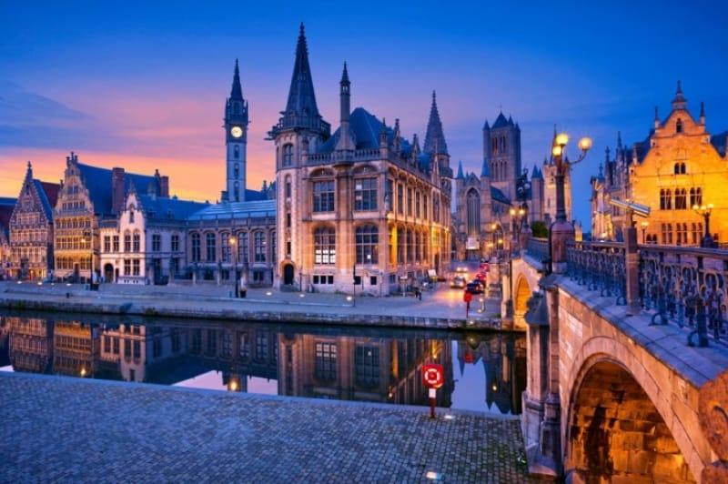 ゲント(Ghent)の美しい街並み