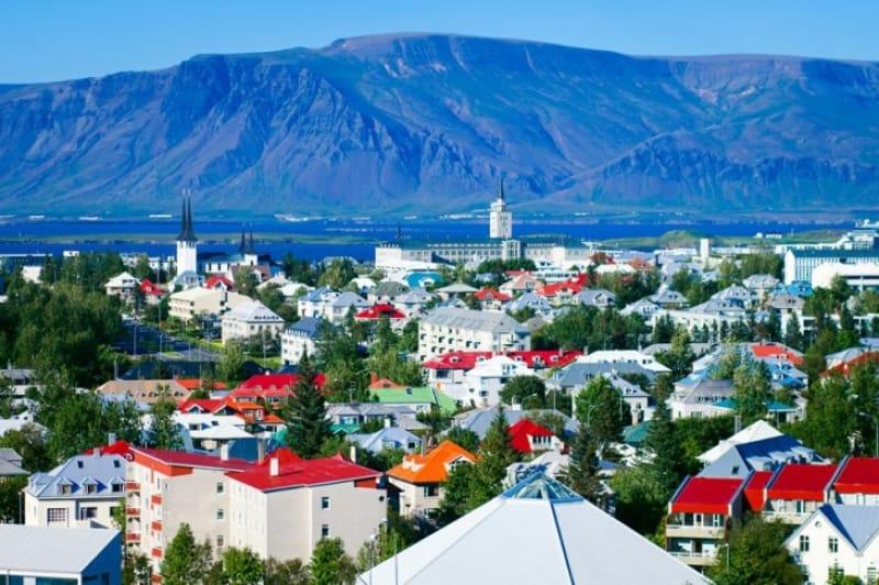 アイスランドの首都レイキャビック