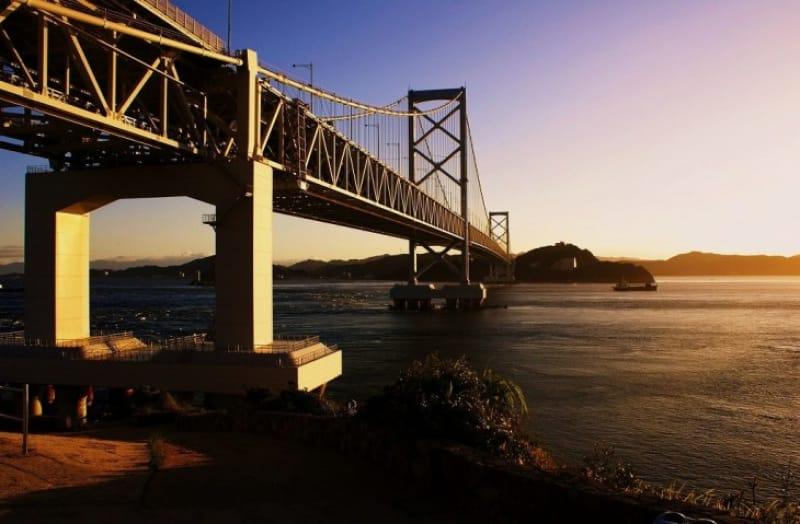 鳴門岬から眺める夕日は秀逸