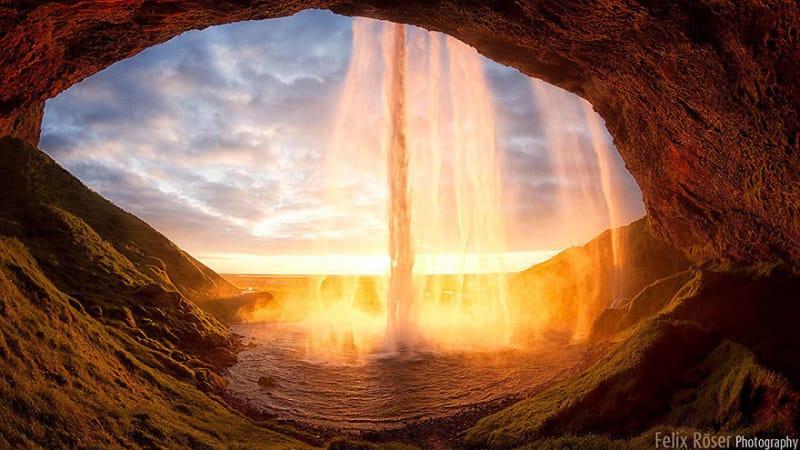 #28.南アイスランドのセリャラントスフォスの夕暮れ時