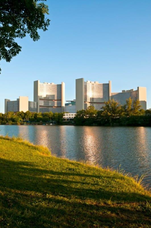 ドナウ川とウィーン国際センター