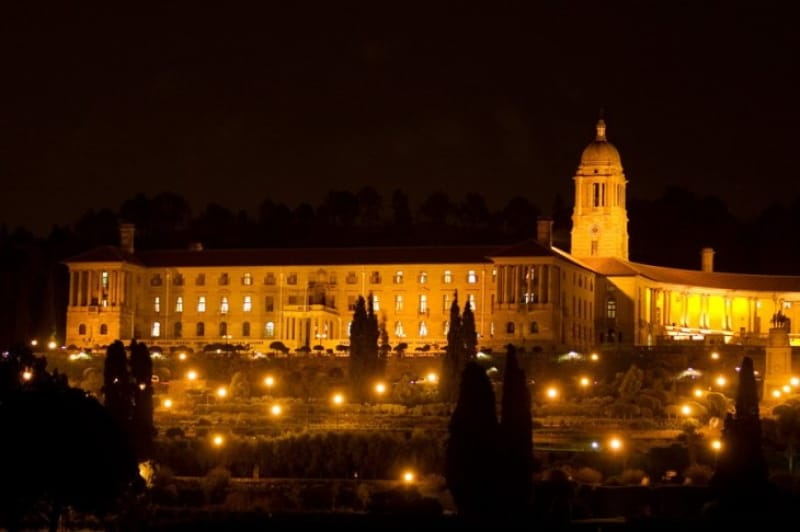 プレトリアの象徴的な建物 夜のユニオン・ビル