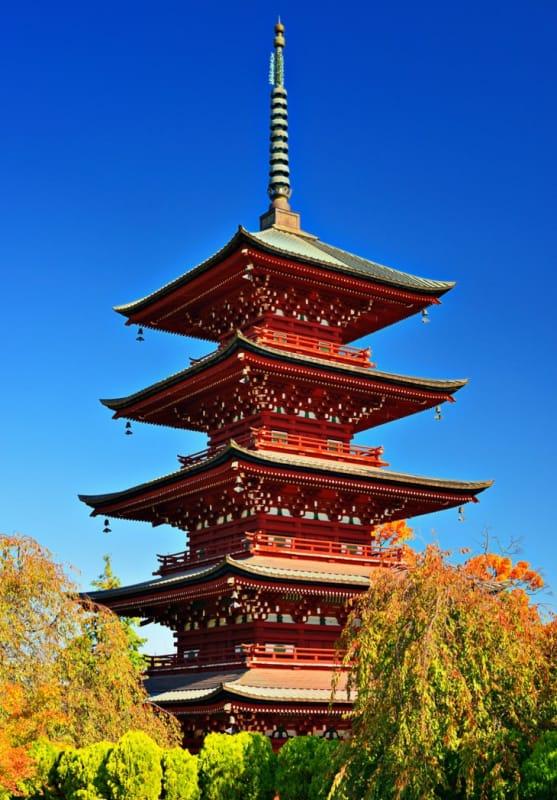 四季の美しさと五重の塔