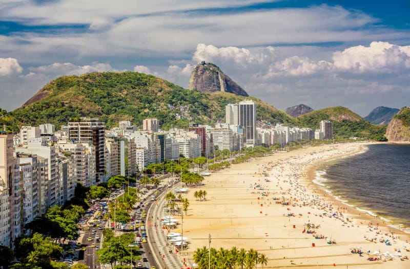 リオのシンボル・コパカバーナビーチ