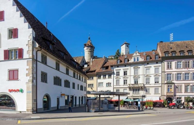 石畳の道に中世の世界「シャフハウゼン旧市街」