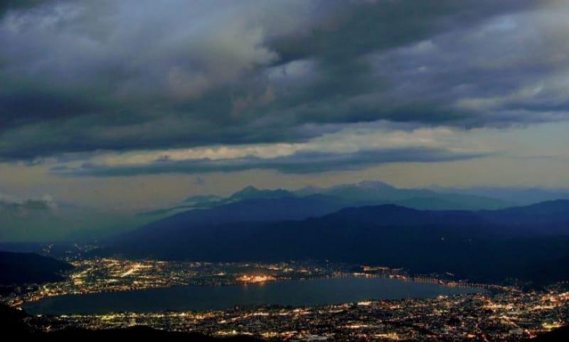 99479:高ボッチ頂上から望む諏訪湖の夜景が素晴らしい!