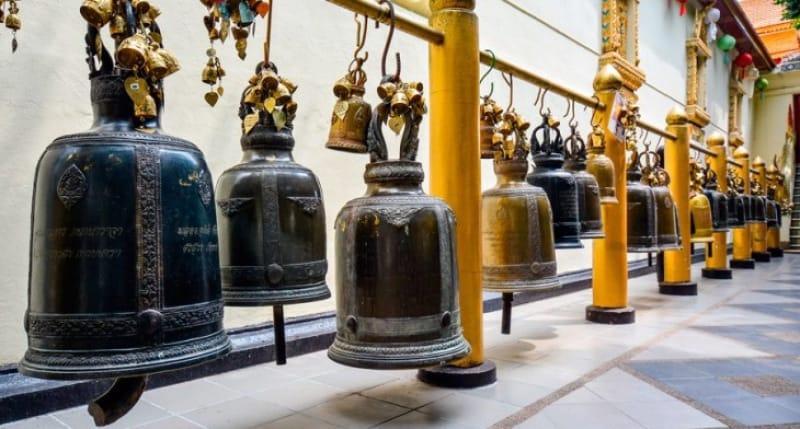 チェンマイ市街を一望できる ワット・プラタート・ドイ・ステープ(鐘)