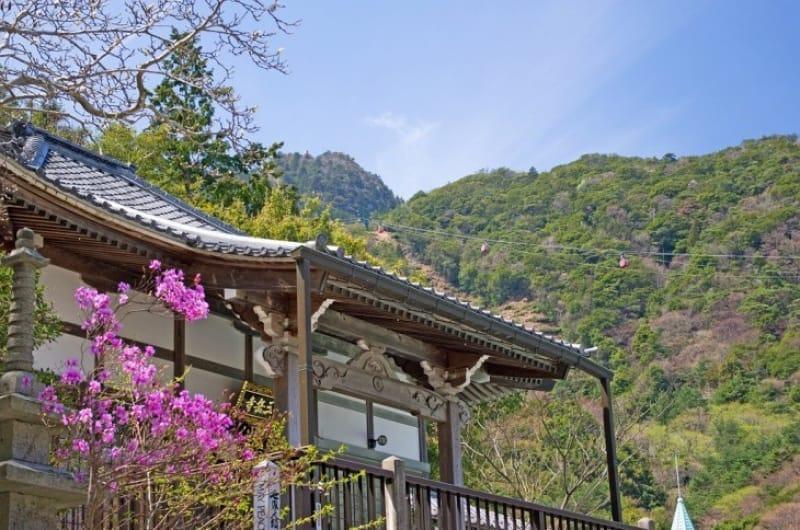現在は恋結びの寺として人気「三嶽寺」