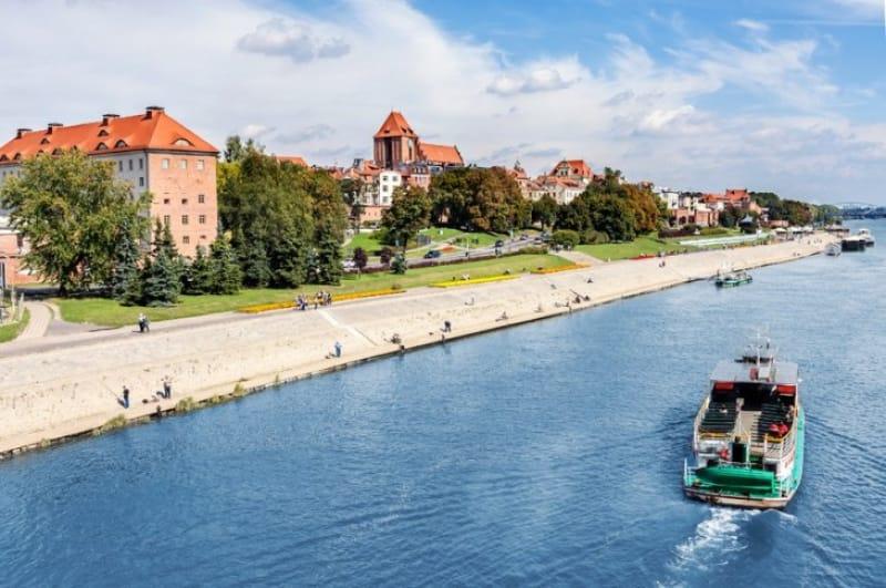 ポーランドを縦断するヴィスワ川