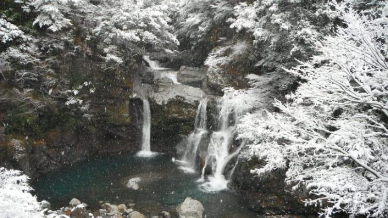94342:滝と林道の後、温泉と鹿肉で保養しましょう