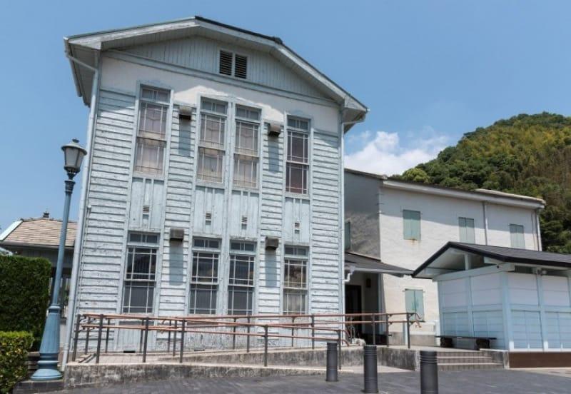 竹原の「町並み保存地区」で珍しい洋風建築「民俗資料館」