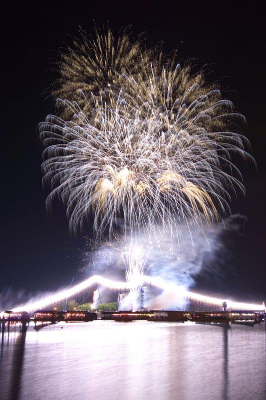西日本一の体感花火!『日田川開き観光祭花火大会』