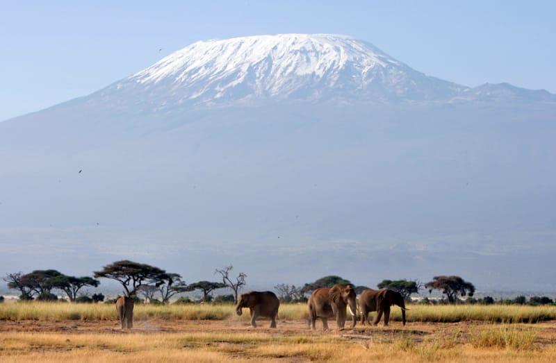アフリカ最高峰の山、キリマンジャロ