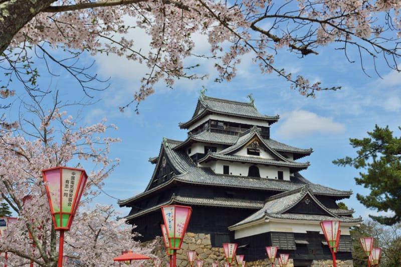 黒く雄大な姿を残す・松江城