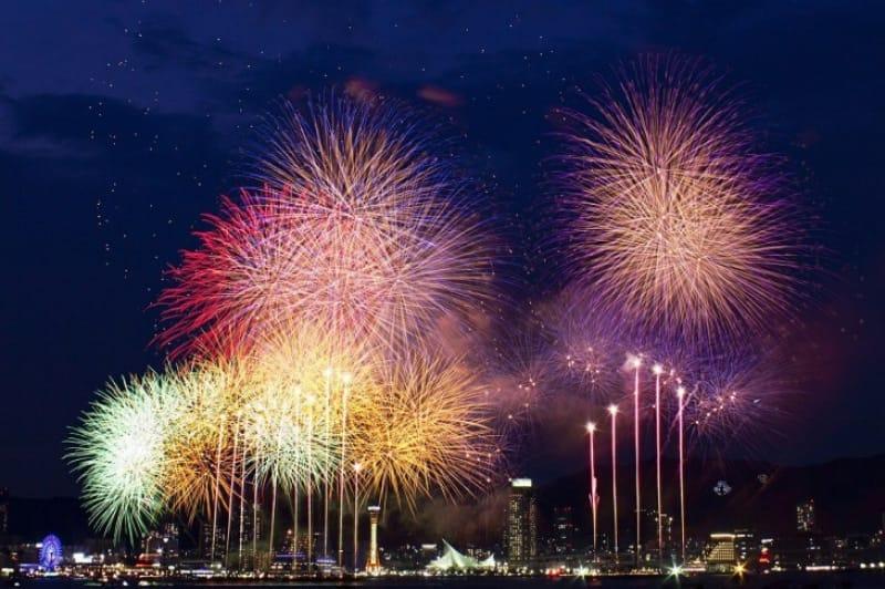 神戸夏の風物詩!みなとこうべ海上花火大会