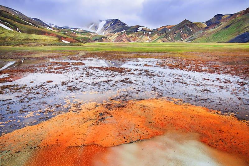 5位 ランドマンナロイガルの流紋岩(Landmannalaugar, rhyolite mountains)