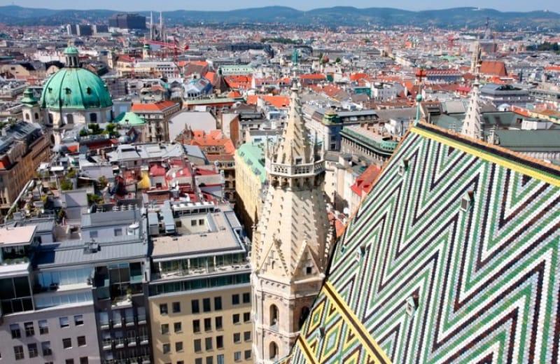 ウィーンをシュテファン大聖堂より望む