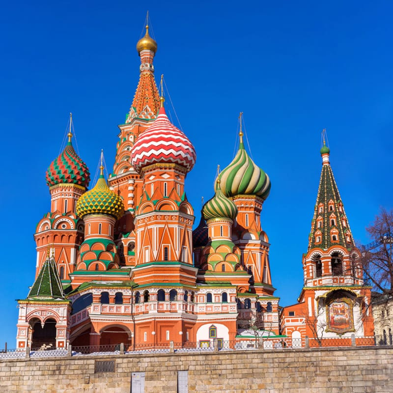 おもちゃのような聖堂「聖ワシリイ大聖堂」/ロシア