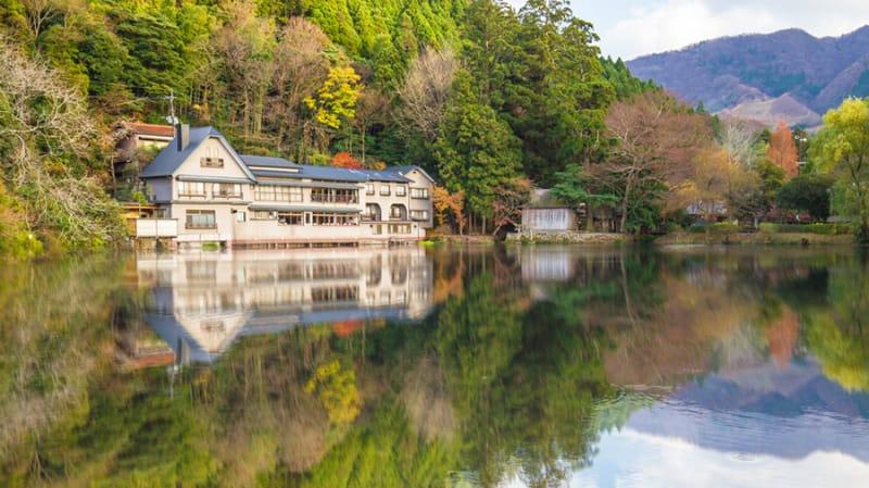 のんびり自然を感じる・金鱗湖