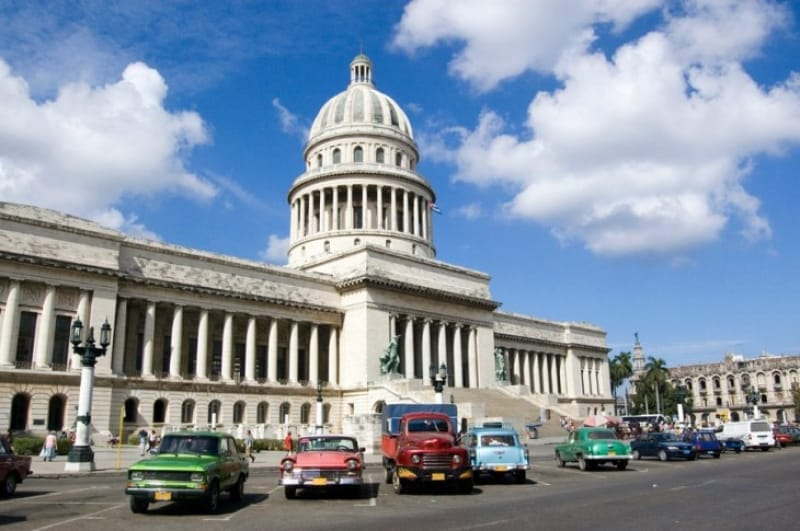 キューバの革命の歴史を伝える革命博物館