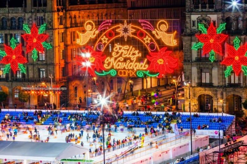 クリスマスナイトのスケートリンク