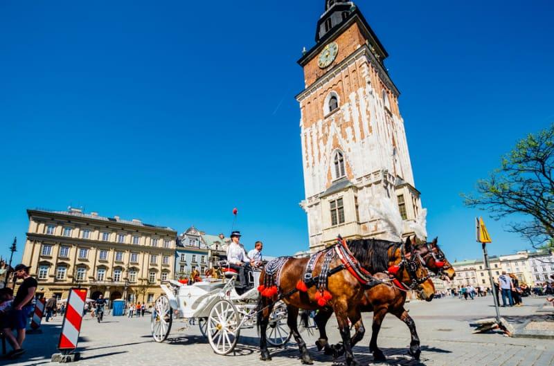 中世の街並みが残るクラフク歴史地区