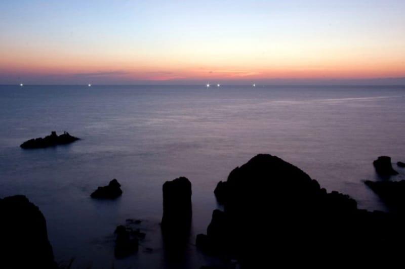 日本海の荒波が造り出す光景・東尋坊