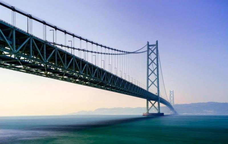 世界最長の吊り橋・明石海峡大橋
