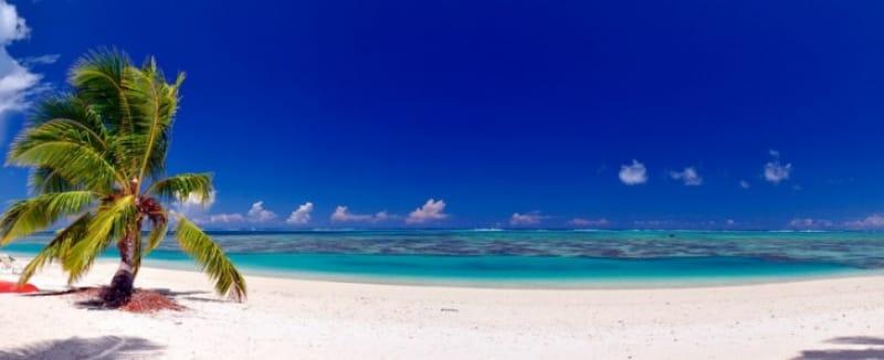 第2位 世界屈指のラグーンを誇る・アイツタキ島