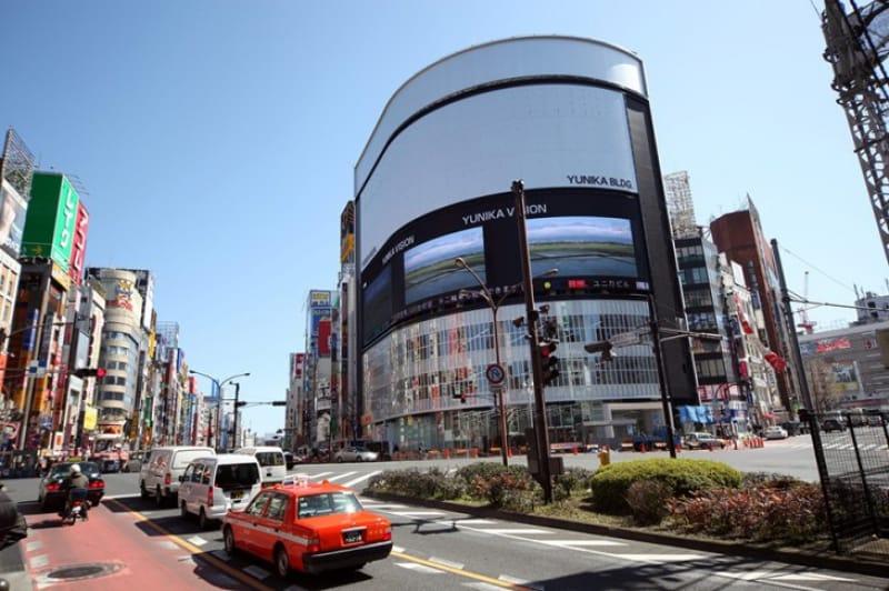 風景シーンにあった「新宿」の街