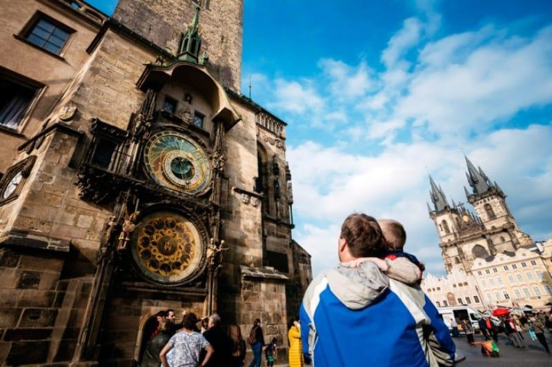 仕掛け人形が動き出す「プラハの天文時計」