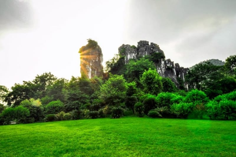 桂林最大の公園!七星公園