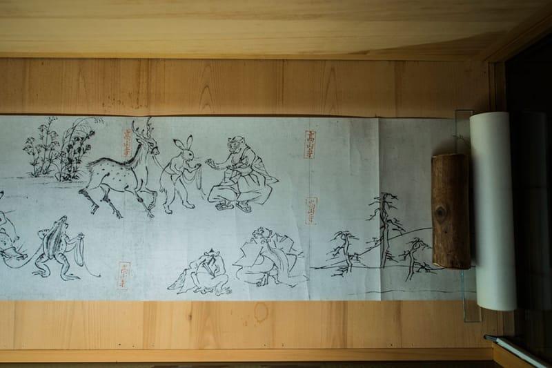 日本史でも有名な国宝 鳥獣戯画