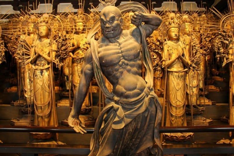 3-2.建仁寺の風神雷神図屏風のモデル、「風神・雷神と二十八部衆」