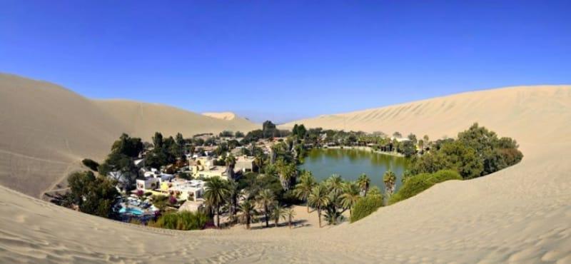 砂漠の美しき小村「ワカチナ・オアシス」