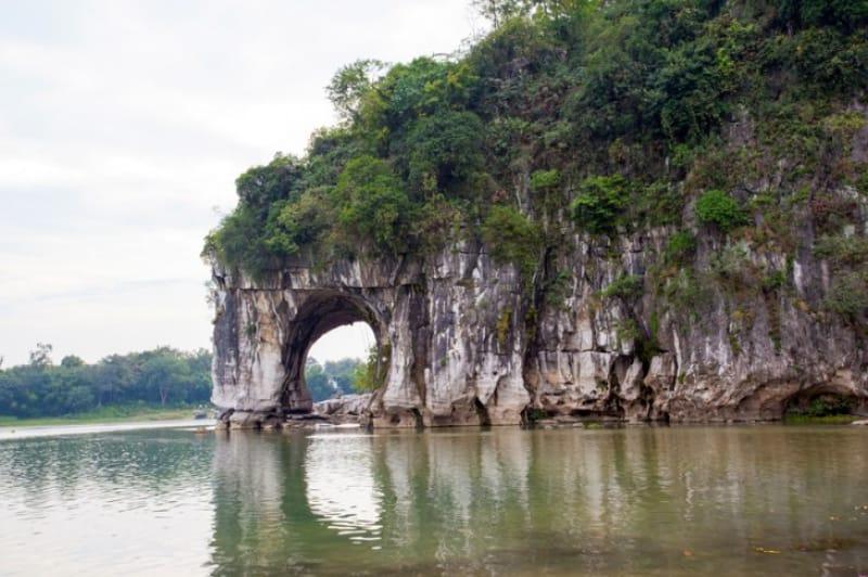 自然が作った変な形!象鼻山