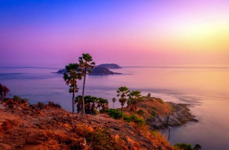 サンセットが美しいプロムテープ岬