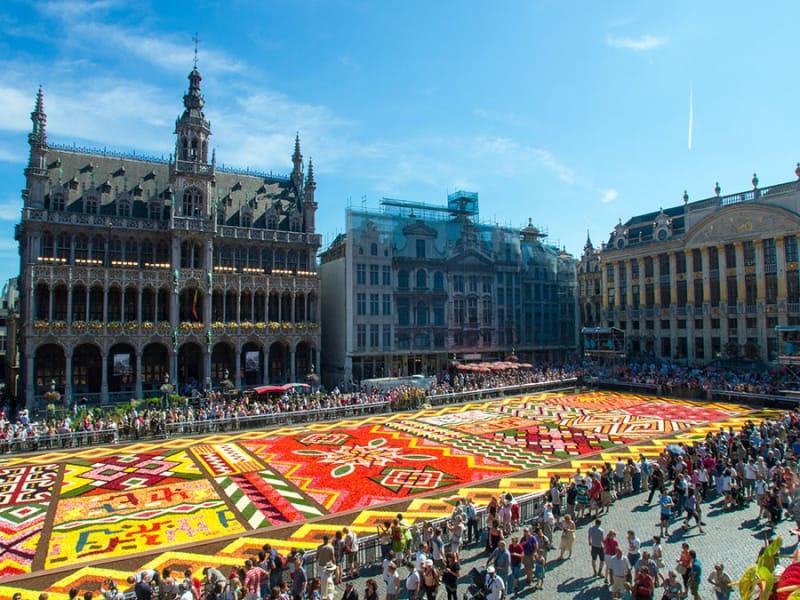 ブリュッセルのフラワーカーペット/ベルギー