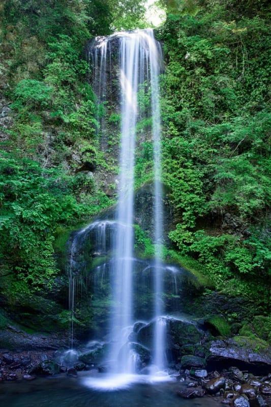 沸石が作り出す景観・不動滝