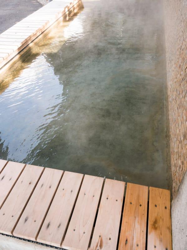 足湯でほっこり・姫神広場