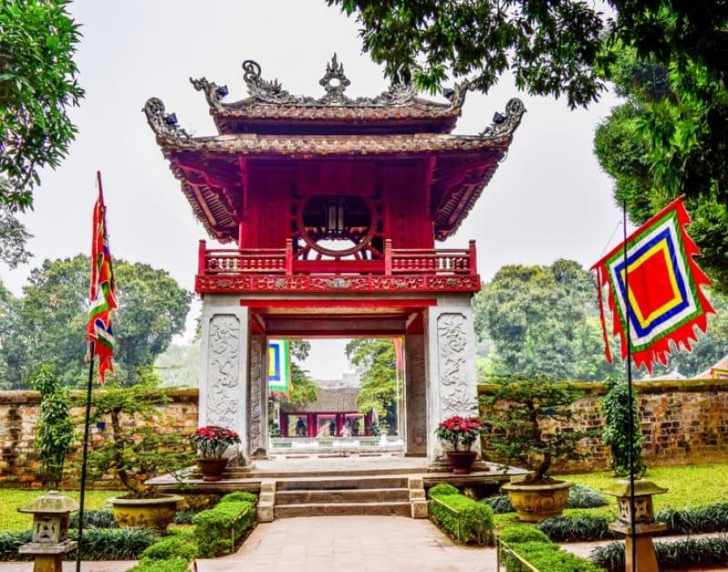 ベトナム最古の大学跡地、文廟(ぶんびょう)