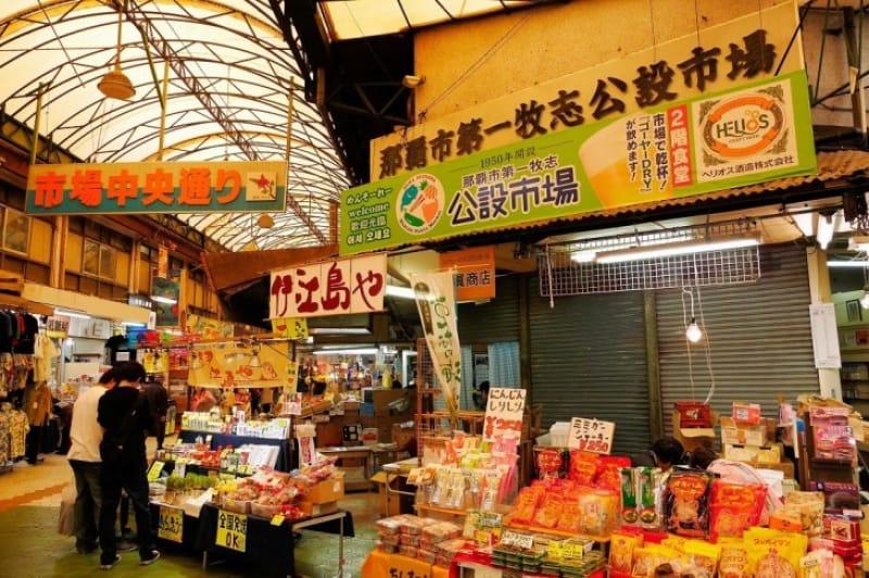 沖縄の食べたいものが揃ってる、第一牧志公設市場とその周辺