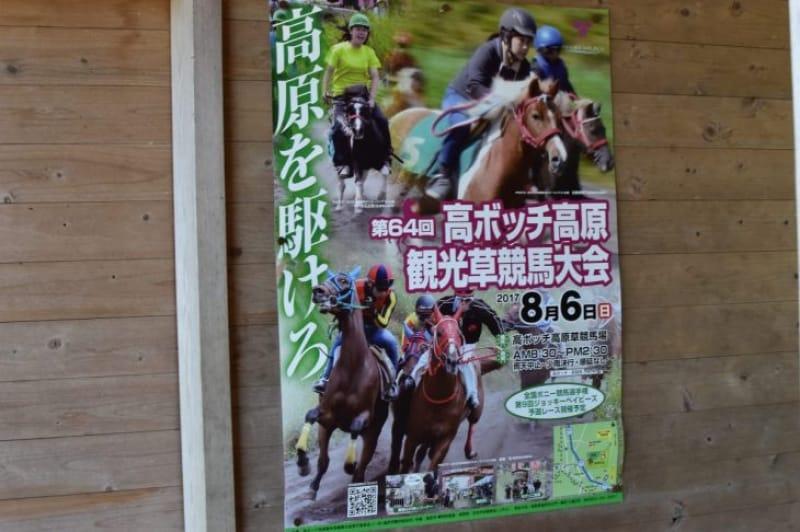 99465:夏休み中には「高ボッチ高原観光草競馬大会」が行われます。