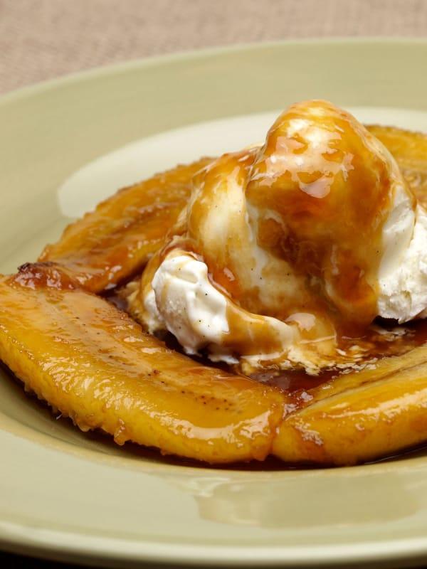 ディナーのデザートに「バナナフォスター(Banana Foster)」