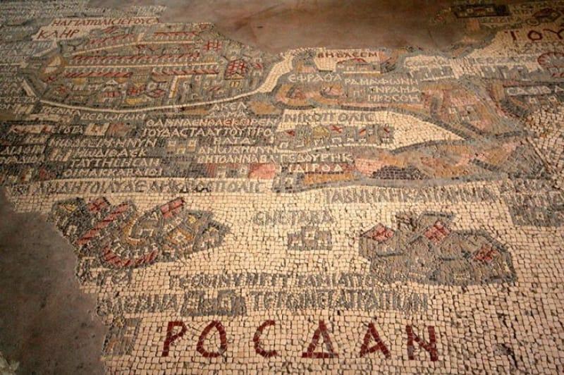 古代モザイク地図が敷き詰められた『聖ジョージ教会』
