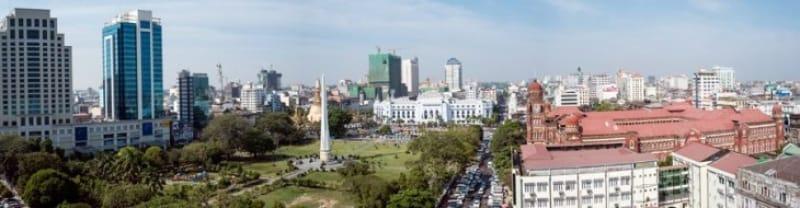 美しいセントラルヤンゴン