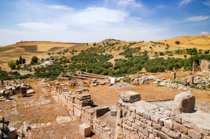 歴史的モザイク画が発見された「ローマ人住宅跡地」