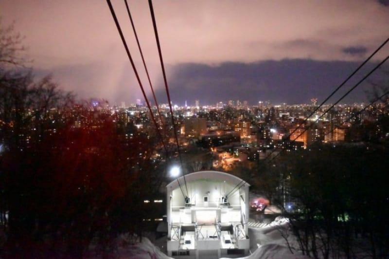 94436:藻岩山の夜景/札幌市・札幌藻岩山ロープウェイ