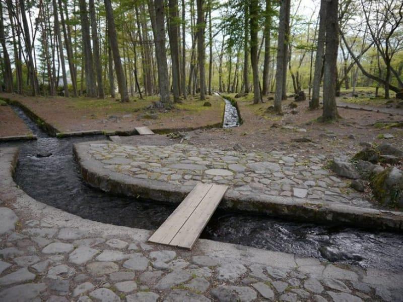 澄んだ湧水が有名・杜々の森名水公園
